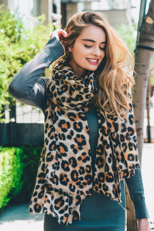 Basic Leopard Print Scarf - Pineapple Collective