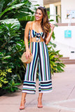 Ready To Leave Striped Two Piece Set (Multi/Green) - Pineapple Collective