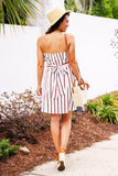 Manuela Striped Dress (Red) - Pineapple Collective
