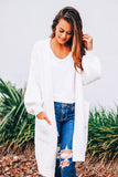 Heaven in Earth Cable Knit Balloon Sleeves Cardigan (Off-White) - Pineapple Collective