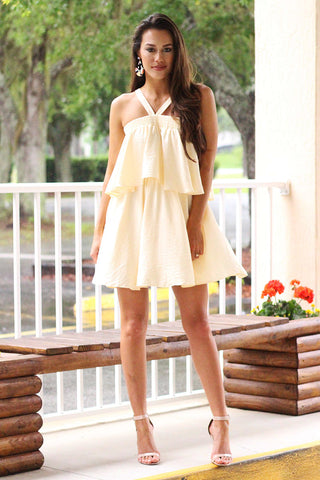 Only For You Double Layered Dress (Cream) - Pineapple Collective