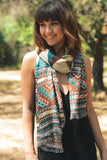 Woven Ethnic Multi-pattern Scarf - Pineapple Collective