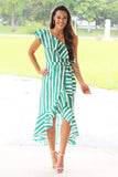 Something To Love One Shoulder Dress (Green) - Pineapple Collective