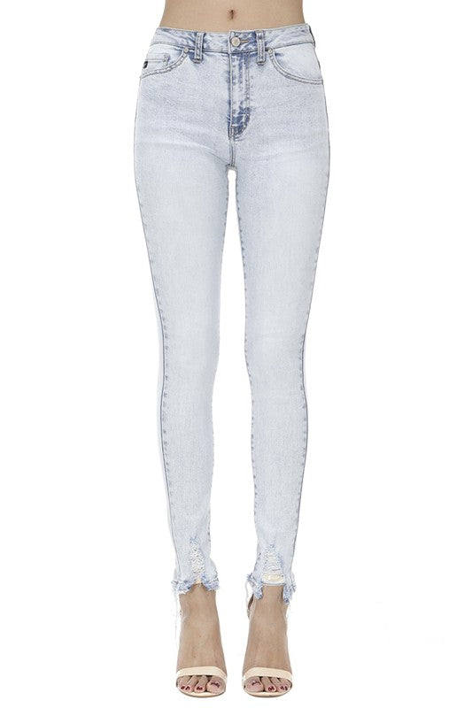 KanCan Super Skinny Distressed Jeans (Light Wash/High Rise) - Pineapple Collective