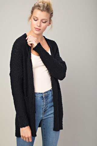 Neutral Love Knit Cardigan (Black)