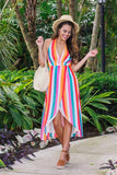 Infinity Love Stripe Dress (Multi) - Pineapple Collective