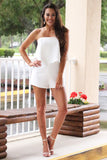 Pure Love Strapless Romper (White) - Pineapple Collective