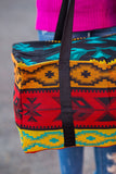 Vereda Southwestern Large Weekender Bag (Style 2) - Pineapple Collective