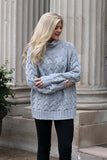 'Torunn' Bubble Sleeves Oversized Sweater (Grey) - Pineapple Collective