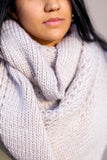 X-Large Chunky Knit Infinity Scarf (Ivory) - Pineapple Collective
