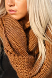 X-Large Chunky Knit Infinity Scarf (Camel) - Pineapple Collective