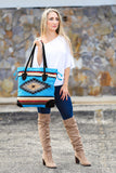 My Azteca Beach Tote Bag (Blue) - Pineapple Collective