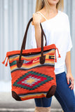 My Azteca Beach Tote Bag (Orange) - Pineapple Collective