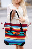 My Azteca Beach Tote Bag (Red/Aqua) - Pineapple Collective