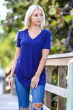 V-Neck Short Sleeve T-Shirt Tunic (More Colors) - Pineapple Collective