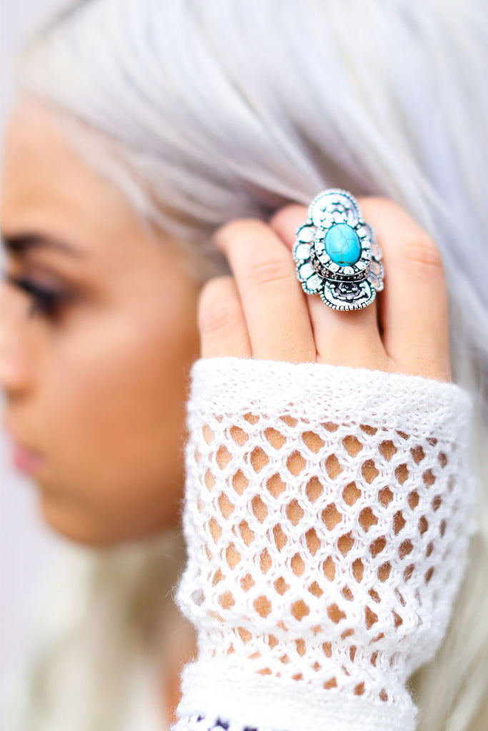 Dream Big Turquoise Ring - Pineapple Collective