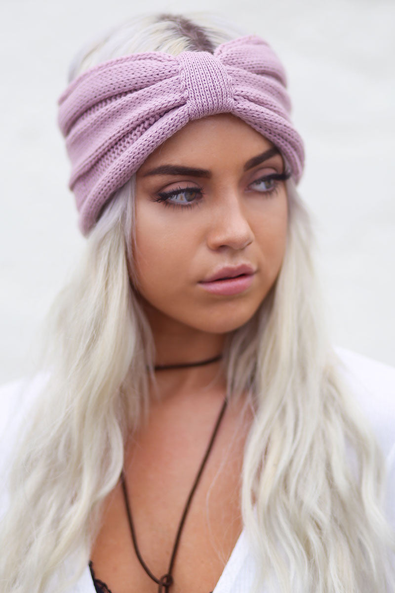 Bow Knot Turban Crochet Headband Rose Pineapple Collective
