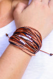 Handmade Hill Tribe Cord Bracelet (Brown) - Pineapple Collective