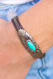 Western Natural Turquoise Stone Bracelet (More Colors) - Pineapple Collective