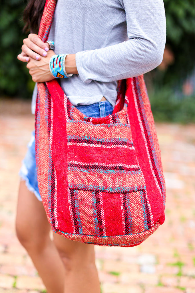 Hippie Beach Crossbody (Red) - Pineapple Collective