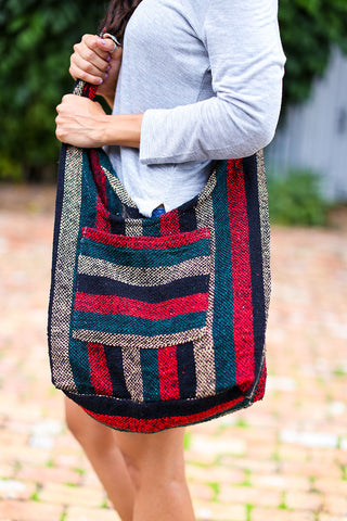 Hippie Beach Crossbody (Red/ Green) - Pineapple Collective