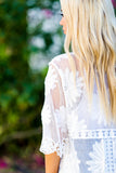 Floral Crochet Embroidered Long Lace Cardigan (Ivory) - Pineapple Collective