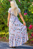 Sunday Best Floral Print Maxi Dress (Grey)