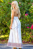 Believe in You Printed Texture Halter Neck Maxi Dress (Ivory) - Pineapple Collective