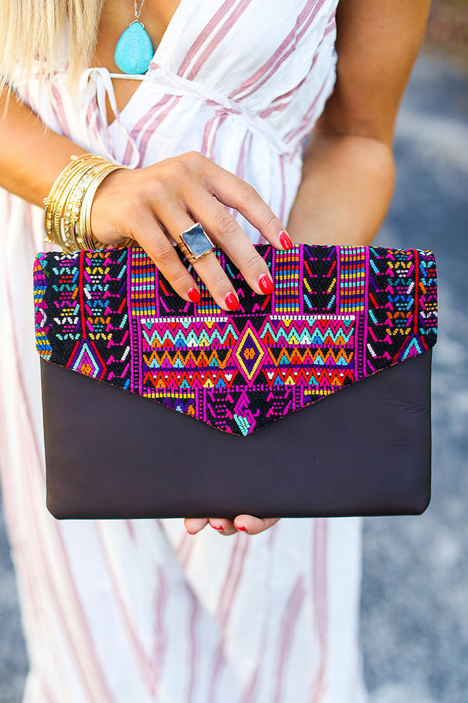 Sassy Artisan Clutch - Pineapple Collective