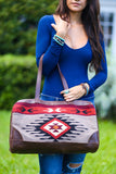 Southwestern Oversized Handbag (Mocha) - Pineapple Collective