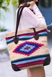 My Azteca Beach Tote Bag (Beige) - Pineapple Collective