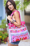 Embroidered Bohemian Oversized Handbag Tote - Pineapple Collective