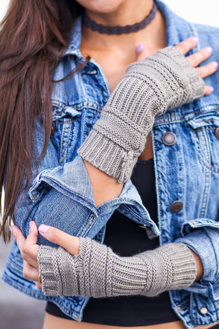 Ribbed Knit Arm Warmer (Mocha) - Pineapple Collective