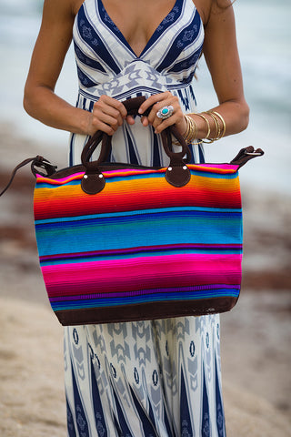 Paradise Serape Weekender Travel Bag