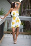 Sweet Summer Floral Print Tube Dress - Pineapple Collective