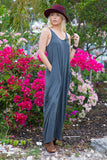 Beach Please Maxi Dress (Grey)