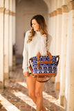 Artisan Ikat Day Bag - Pineapple Collective