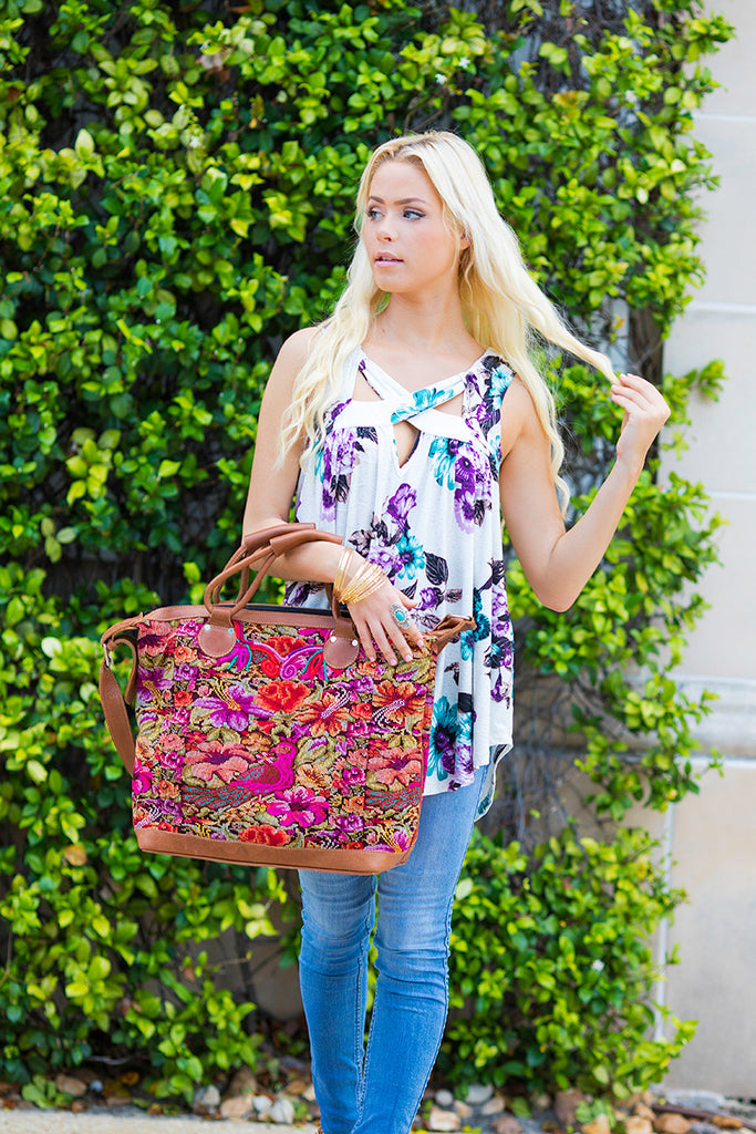 Warrior Artisan Weekender Bag Style #3 - Pineapple Collective