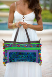 Rainbow Pom Pom Trim HandBag Style #5 - Pineapple Collective