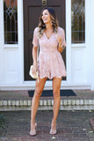 My Little Secret Lace Romper (Blush) - Pineapple Collective
