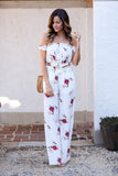 A Love Like No Other Two Piece Floral Print Set (Ivory) - Pineapple Collective