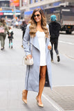 City Girl Maxi Coat (Blue Grey) - Pineapple Collective
