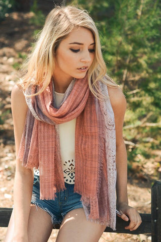 Bohemian Gypsy Frayed Edge Scarf - Pineapple Collective