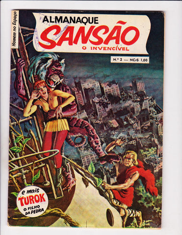 Almamaque Sansao O Invencivel No 2 1970  Portuguese   David The Invincible / Turok Story Inside!