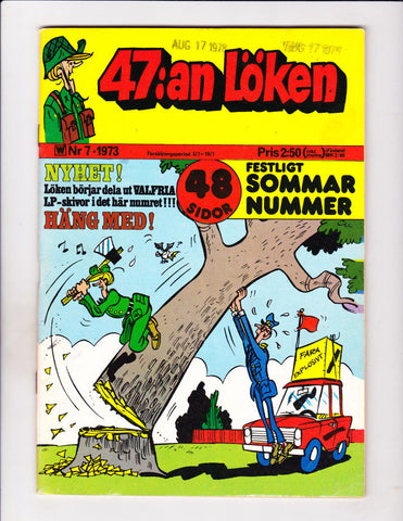 47:an Loken No 7 1973 Swedish Sad Sack Falling Tree Cover!