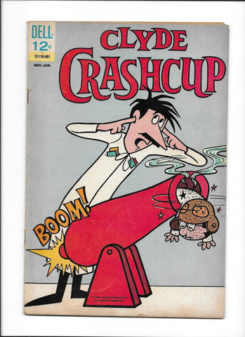 CLYDE CRASHCUP #2 [1964 VG] WRITTEN BY JOHN STANLEY!  CANNON COVER!