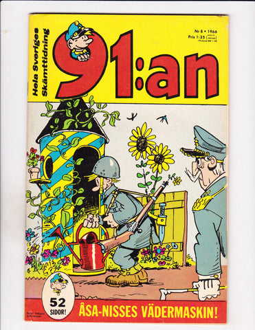 91:an No 8 1966 Swedish Guard Shack Garden Cover!