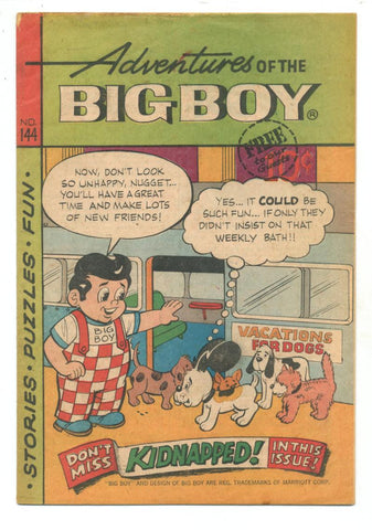 Adventures of the Big Boy #144     Restaurant Giveaway Comic