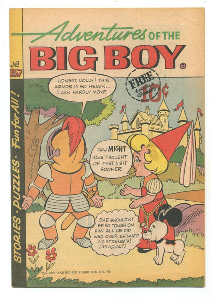 Adventures of the Big Boy #157    Restaurant Giveaway Comic