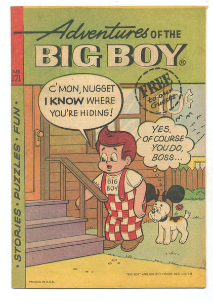 Adventures of the Big Boy #171    Restaurant Giveaway Comic
